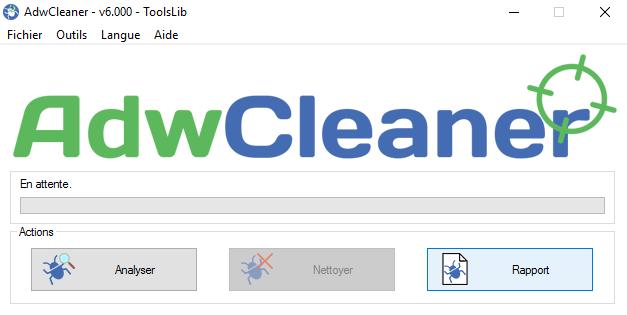 Interface d'AdwCleaner