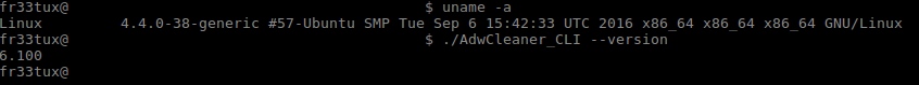 AdwCleaner on Linux - CLI