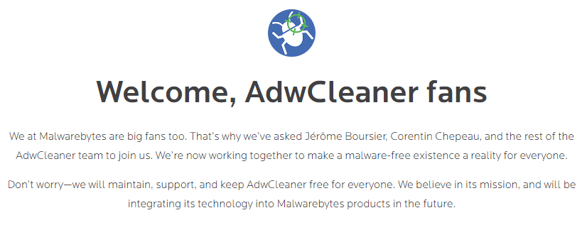 Welcome, AdwCleaner!